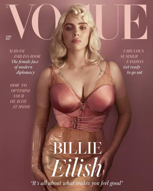 Billie Eilish, rubia y con corsé, es la portada de 'British Vogue' de junio   Gente   Entretenimiento   El Universo
