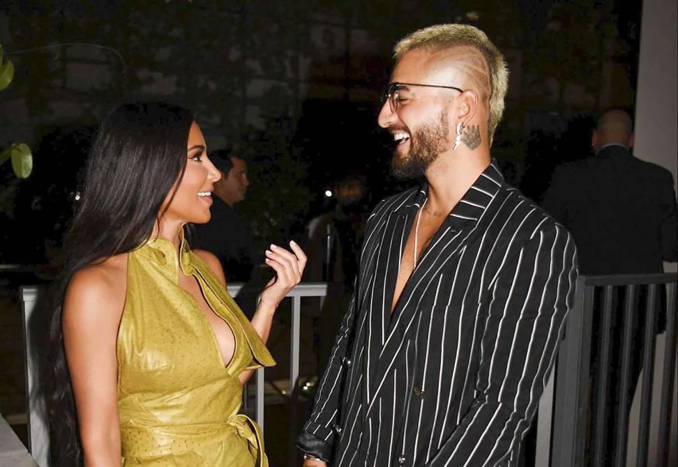 Maluma and Kim Kardashian